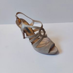 Authentic Prada Sandal Heels Grey